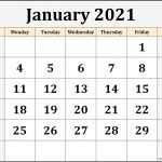 January 2021 Calendar Free Printable Monthly Calendars 1
