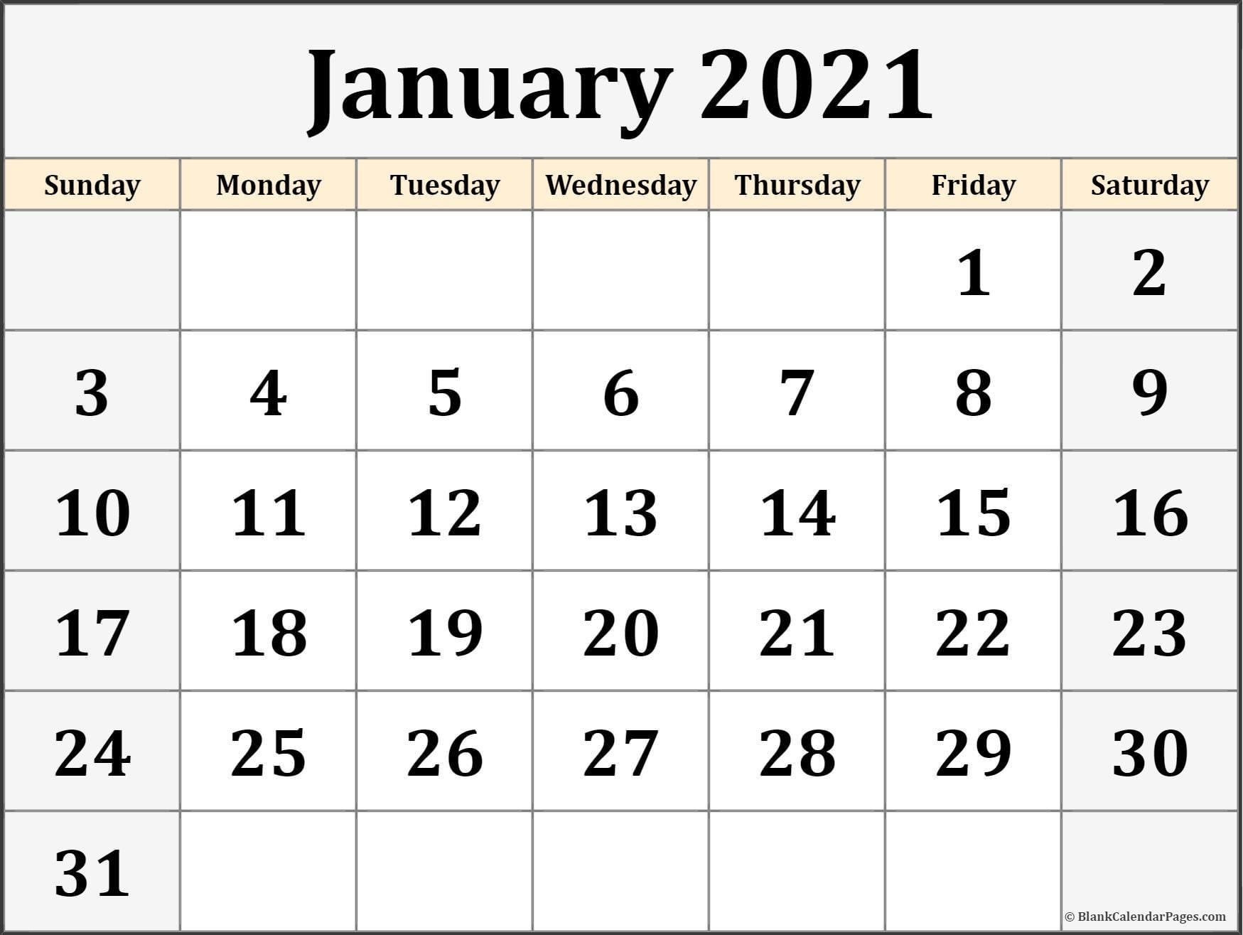 january 2021 calendar free printable monthly calendars 1 ...