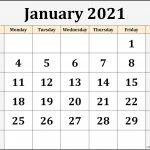 January 2021 Calendar Free Printable Monthly Calendars