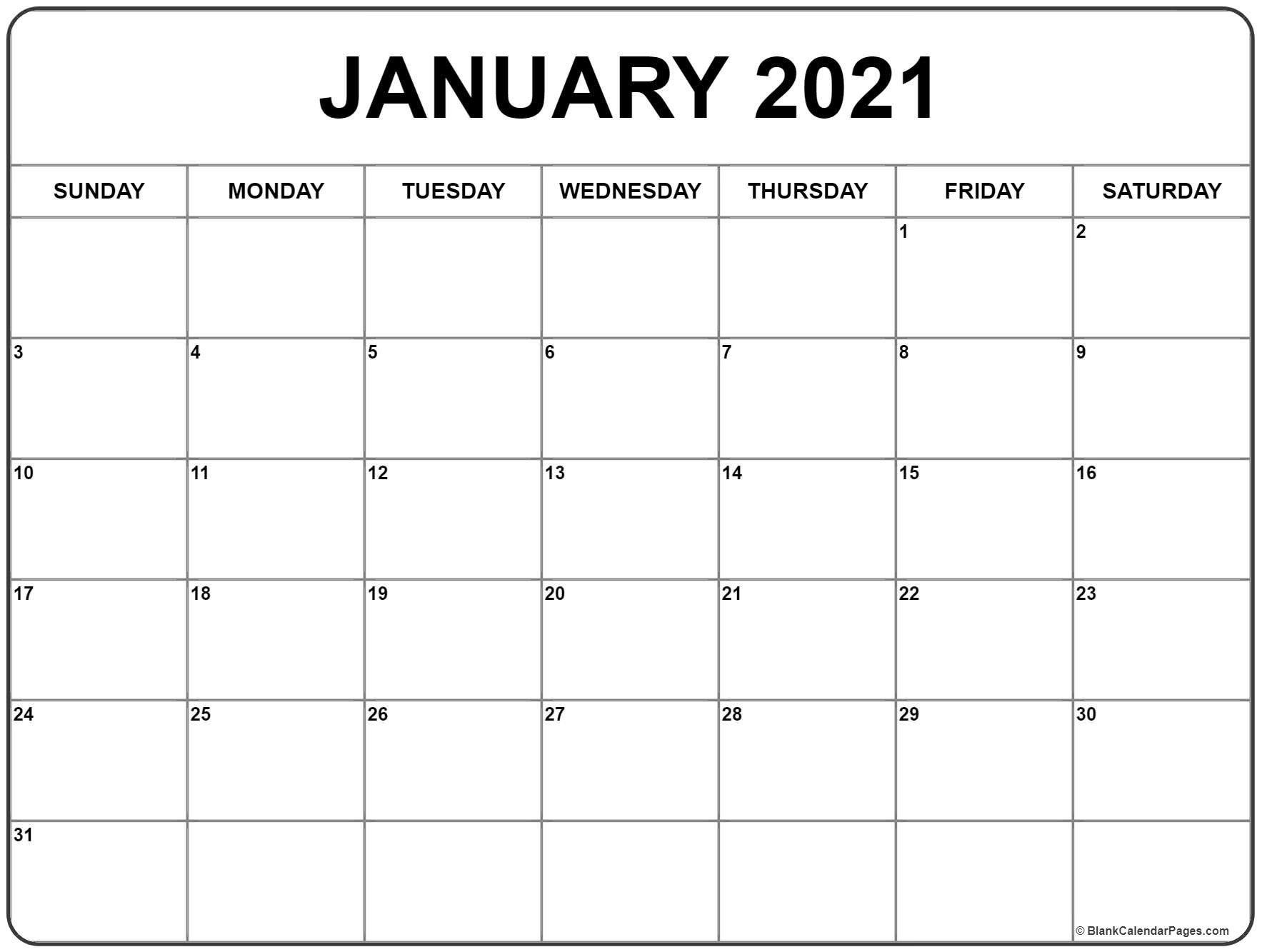 January 2021 Calendar Printable In 2020 Monthly Calendar