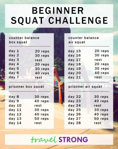 Jj Smith 30 Day Squat Challenge Calendar Fitness Jungle 1