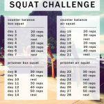 Jj Smith 30 Day Squat Challenge Calendar Fitness Jungle