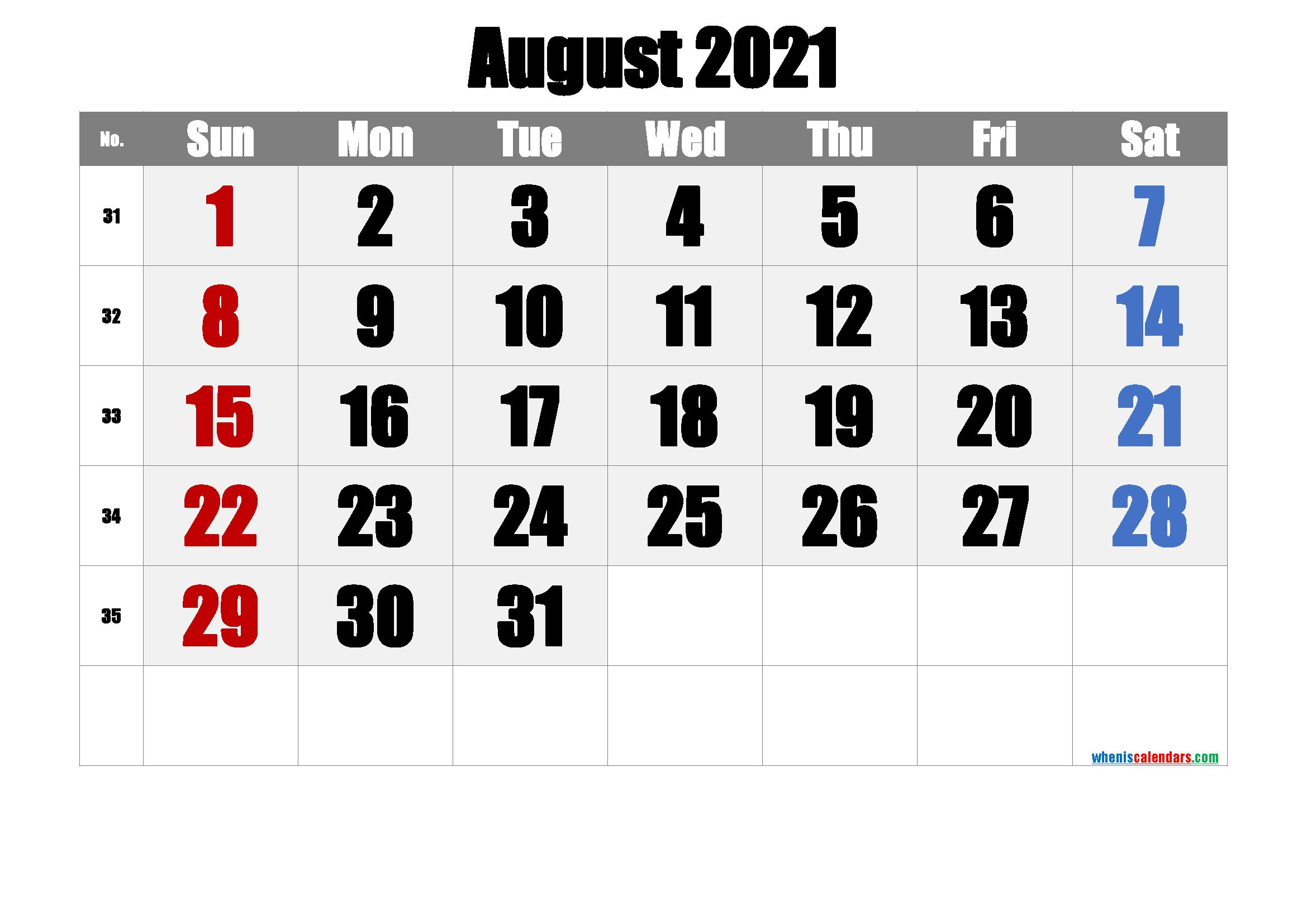 July 2021 Printable Calendar With Holidays 6 Templates