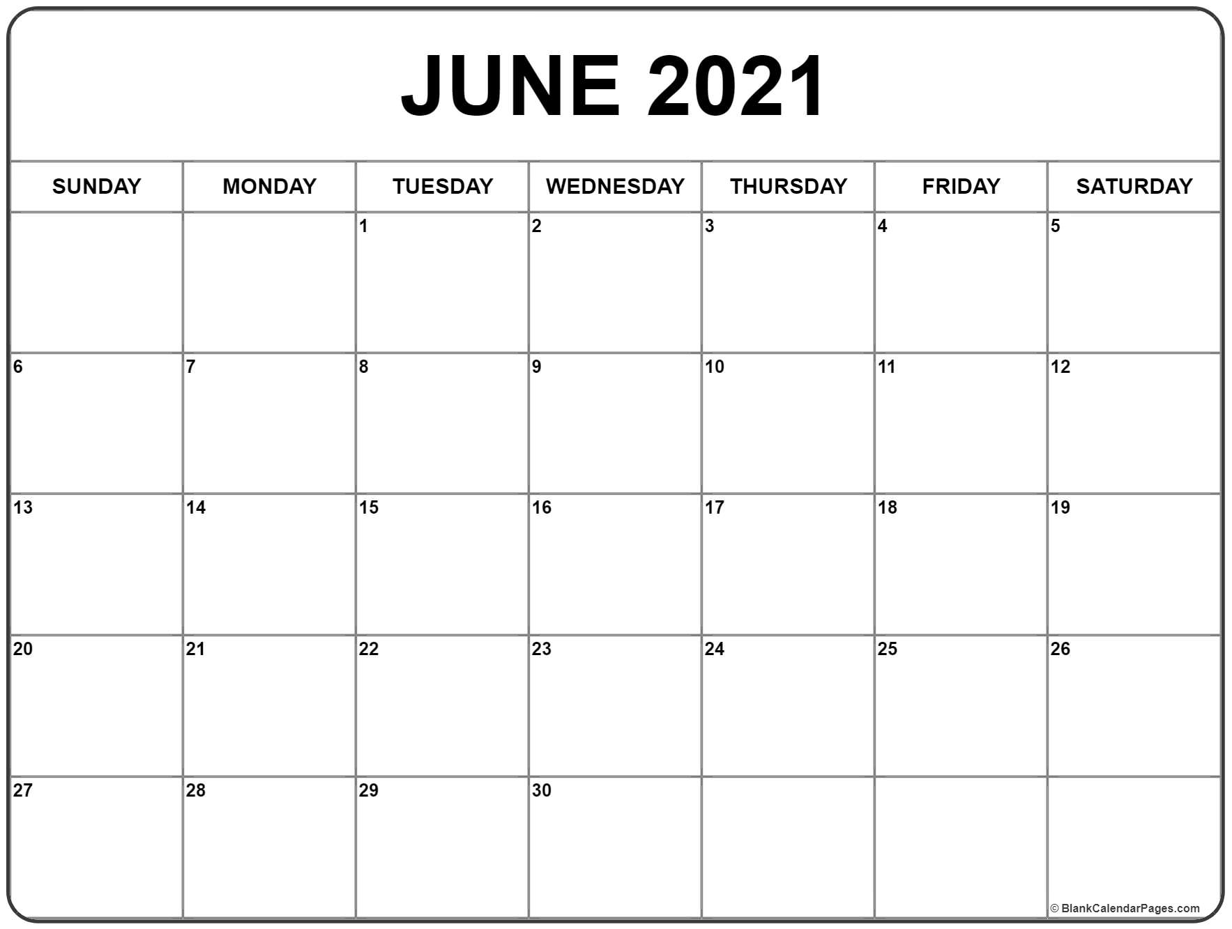 June 2021 Calendar Free Printable Monthly Calendars 4