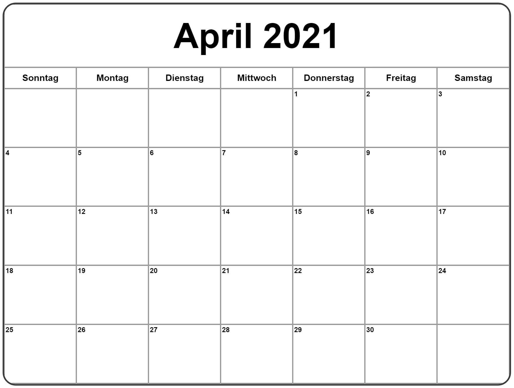 Kalender 2021 April Zum Ausdrucken The Beste Kalender
