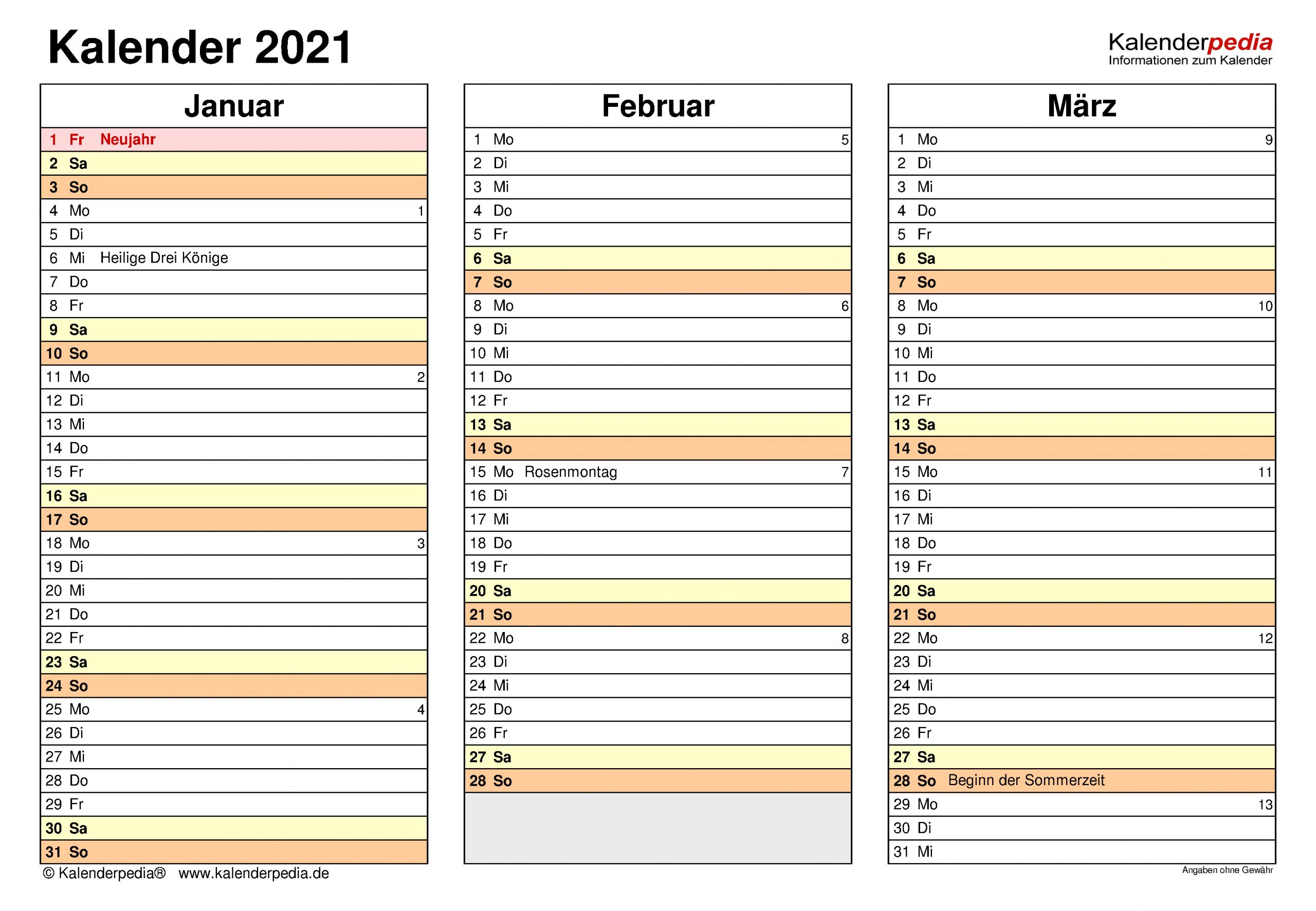 Kalender 2021 Zum Ausdrucken Als Pdf 19 Vorlagen Kostenlos