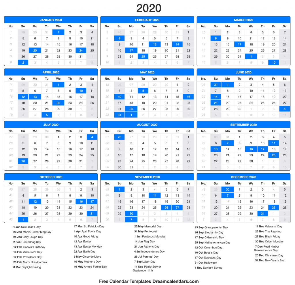 Labor Day 2020 Calendar Calendar Template 2020