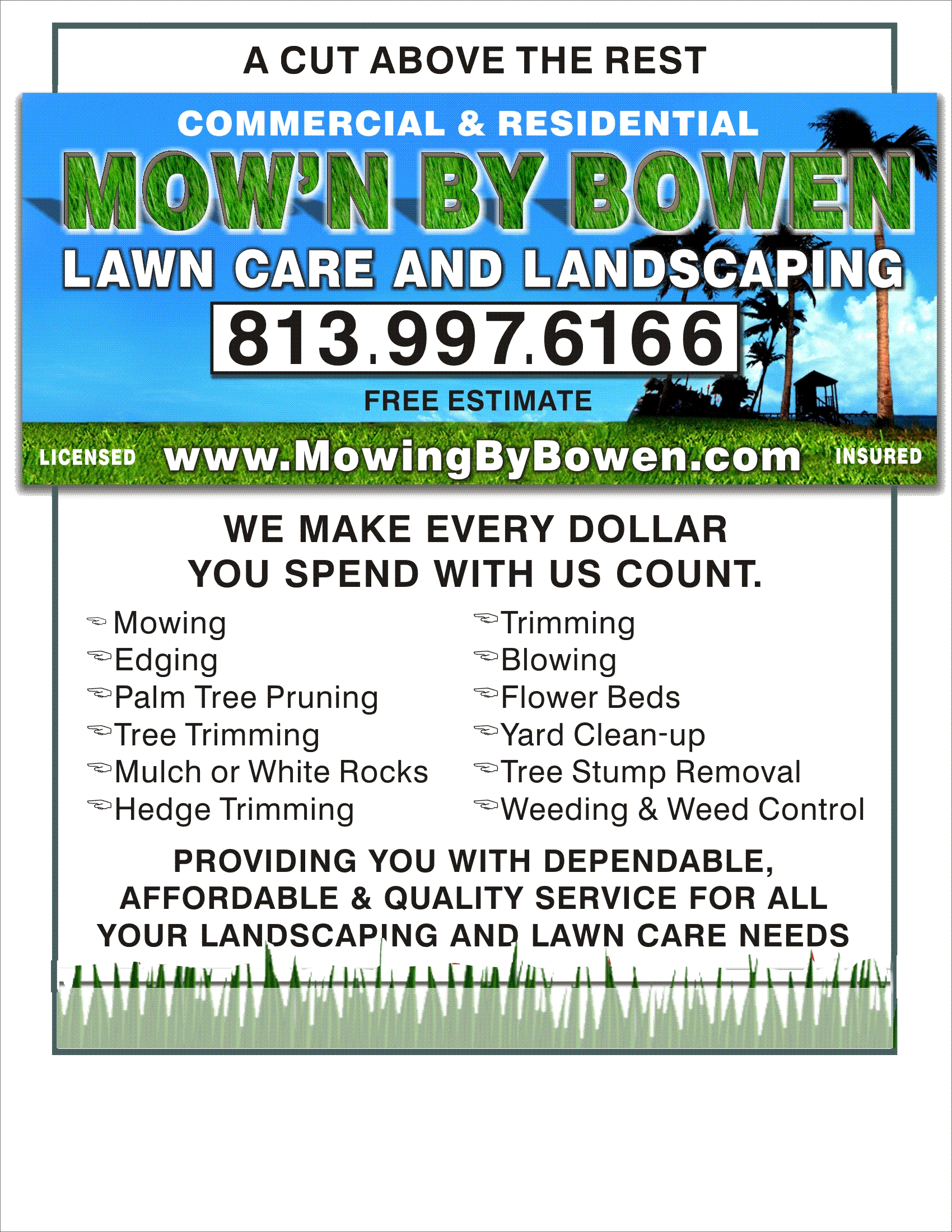 Lawn Care Advertising Flyers Qualads