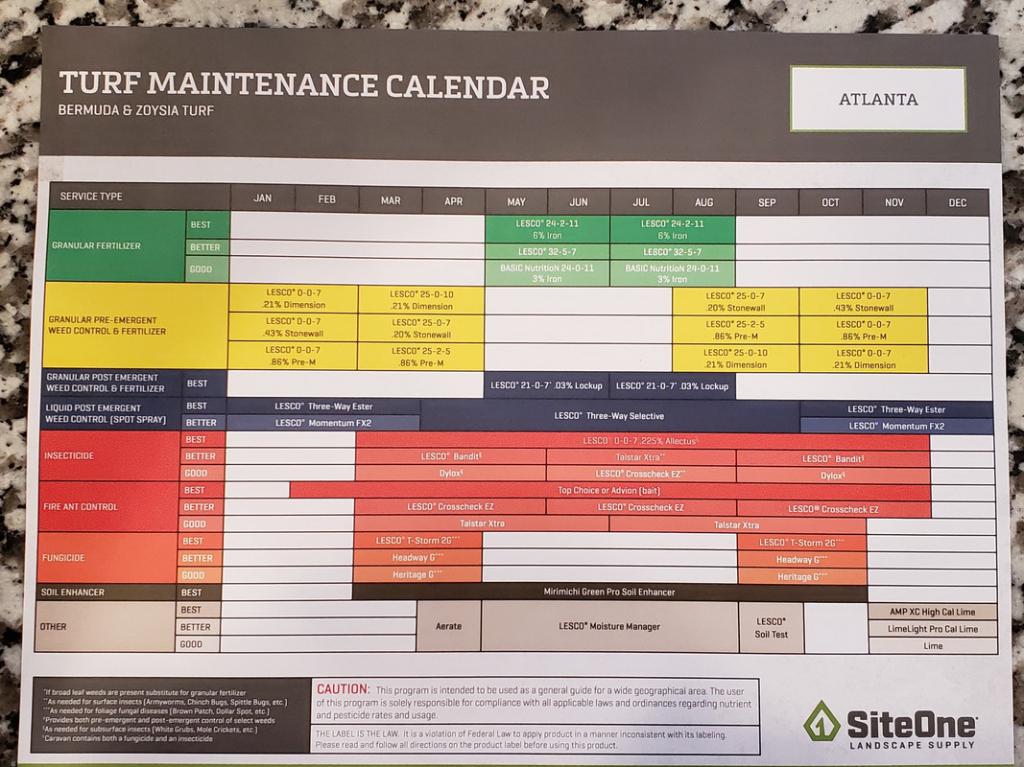 Lawn Maintenance Calendar Calendar Template 2020 1