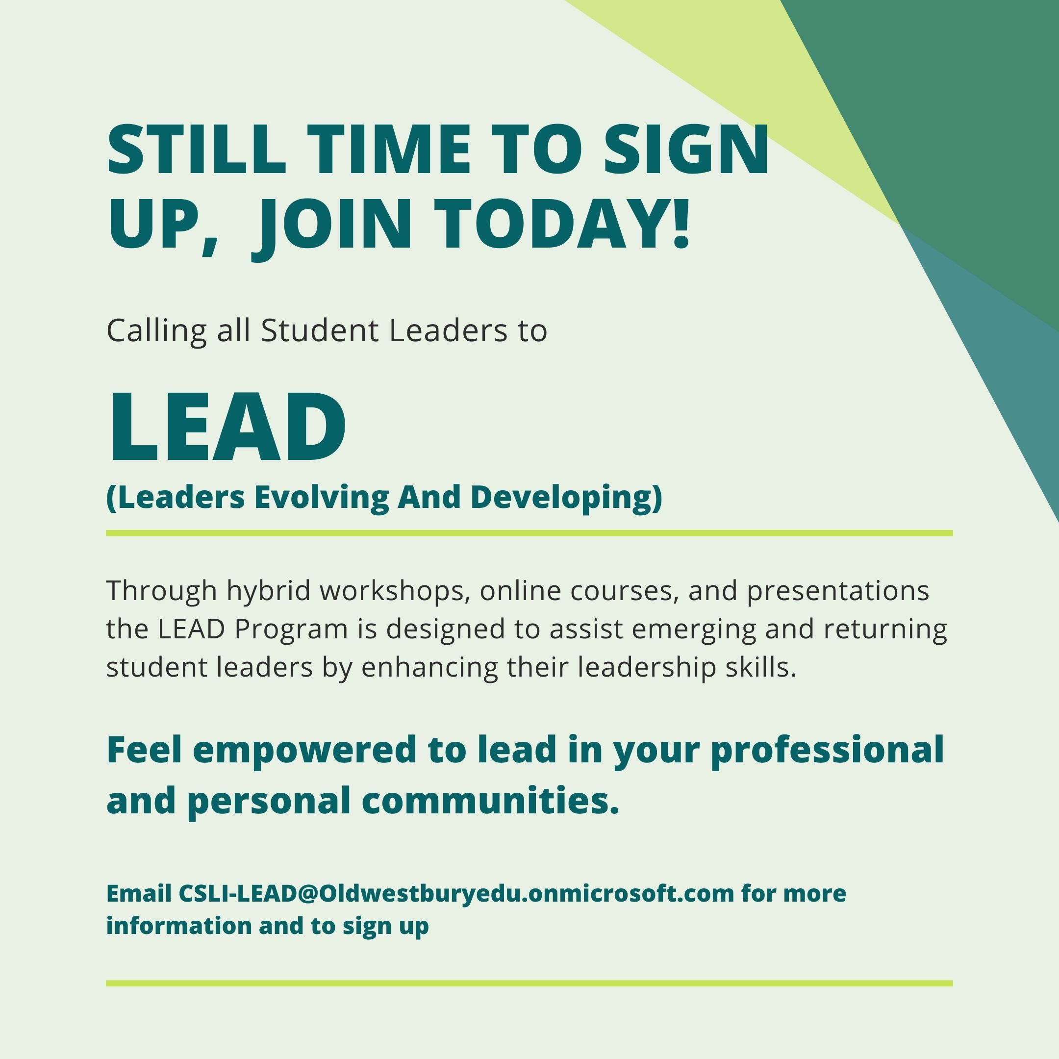 Leadership Opportunities Suny Old Westbury