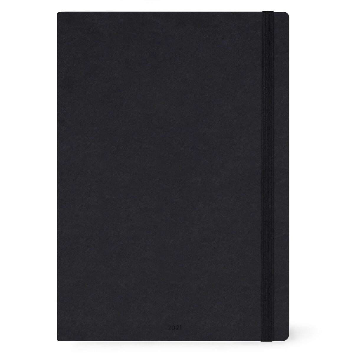 Legami 2021 Maxi Daily Diary Black Paper Republic