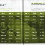 Les Mills Combat 02 60 Day Supreme Warrior Calendar