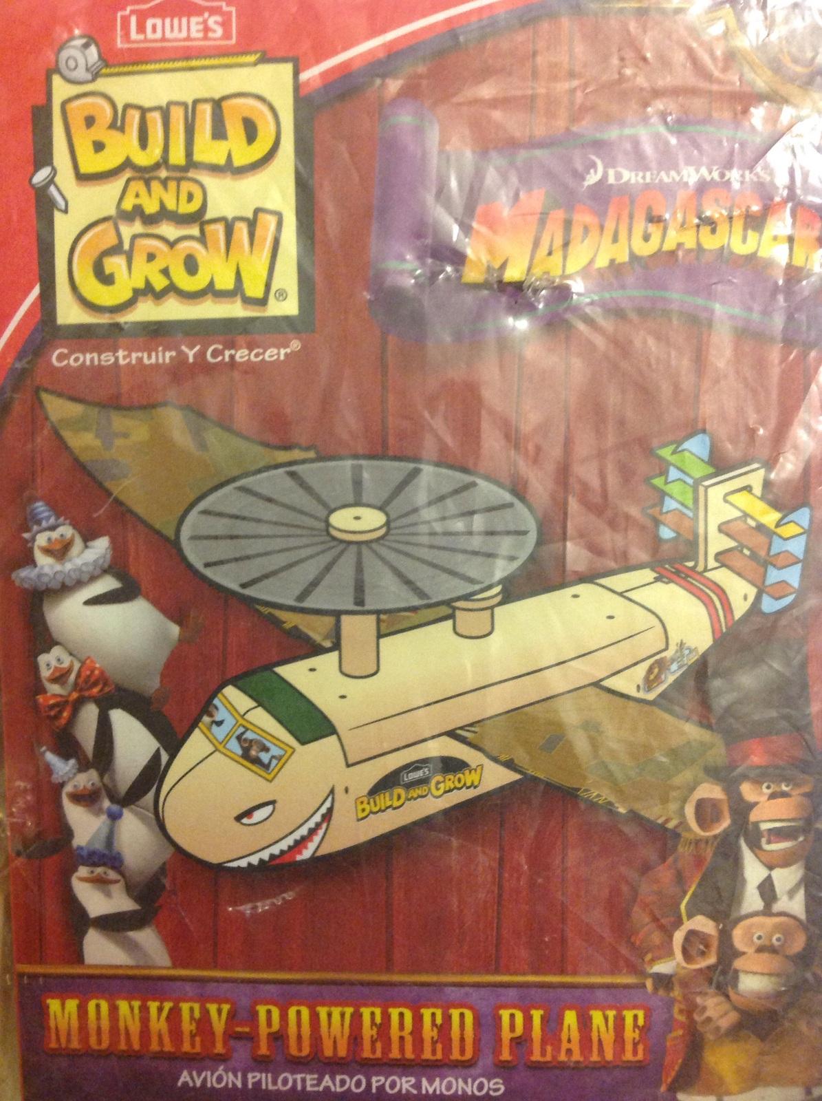 Lowes Build And Grow Madagascar 3 Monkey Powered Plane 1