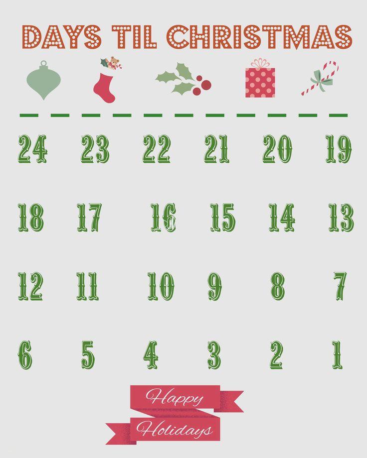 Luxury 10 Days Till Christmas Advent Calendar Christmas