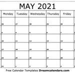 May 2021 Calendar Free Blank Printable Templates