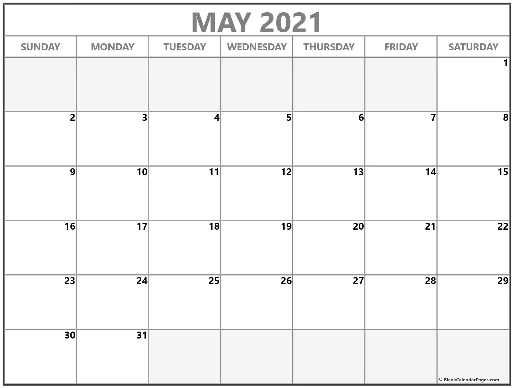 May 2021 Calendar Free Printable Monthly Calendars 6