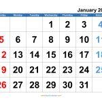 Microsoft Word Calendar Template 2020 Edit Example