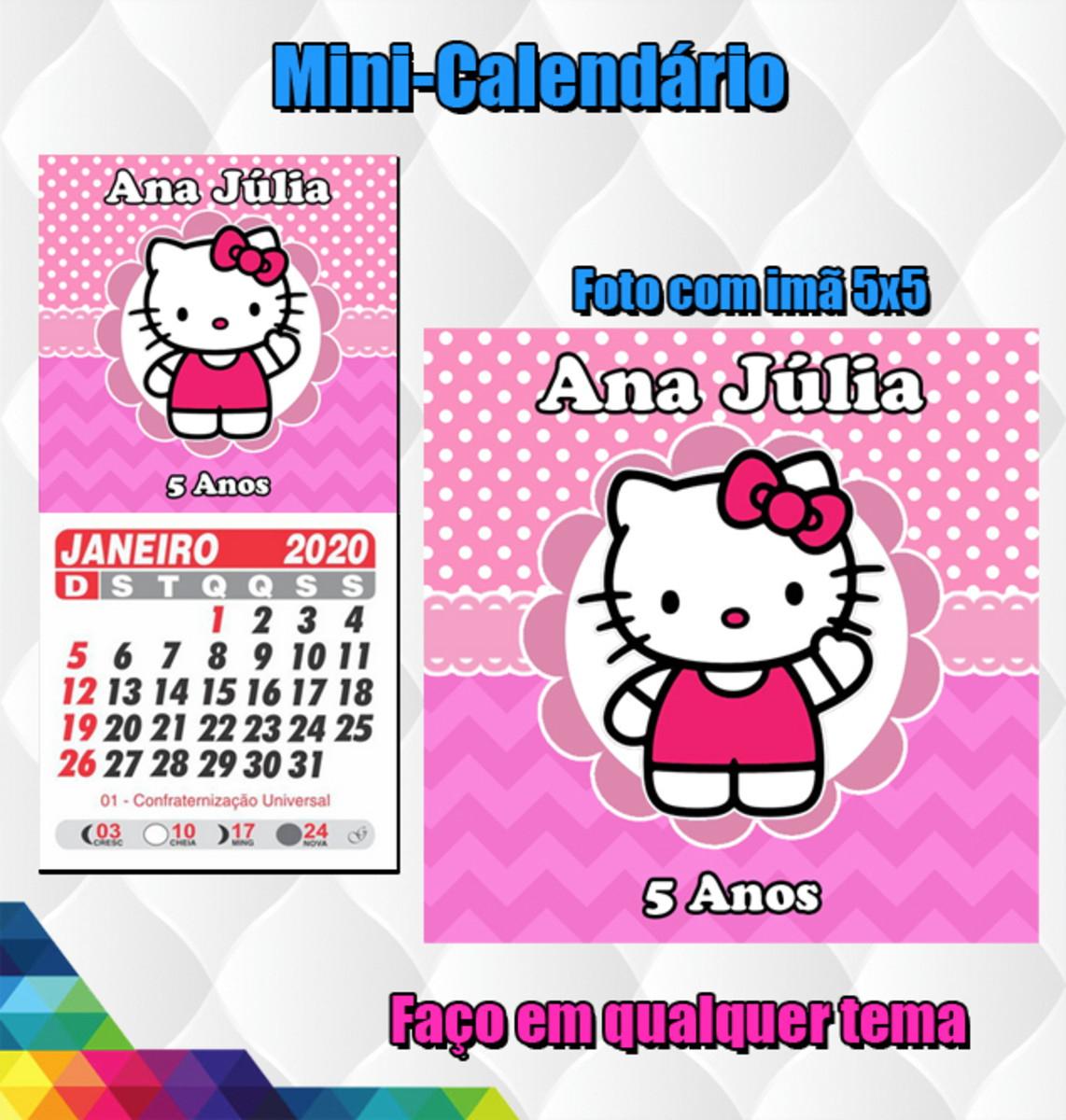 Mini Calendarios 2021 Com Ima 30 Unidades Hello Kitty