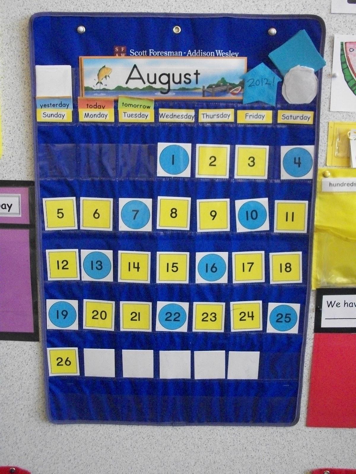 Miss Van Marens Fantastic First Grade My Calendar 2