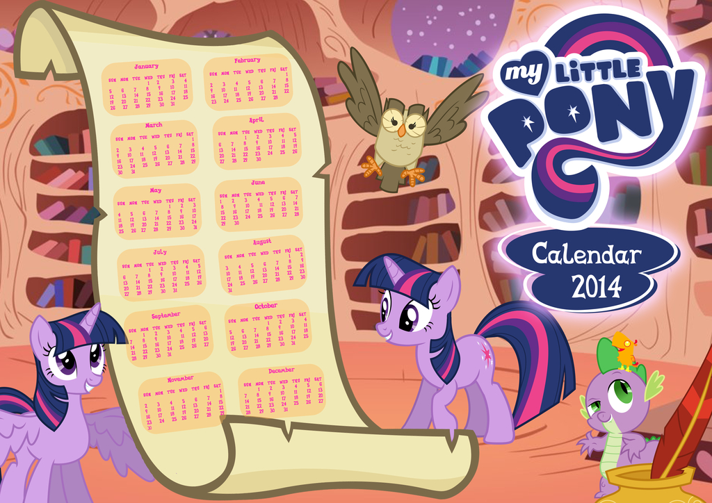 My Little Pony Calendar Calendar Template 2019
