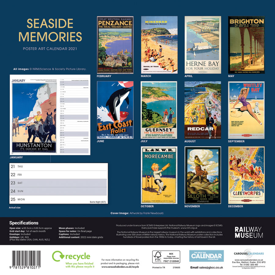 National Railway Museum Seaside Memories Poster Art