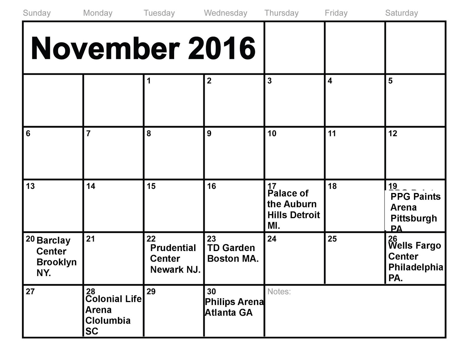 New York City Rhythm Facebook Post Sunday November 13th