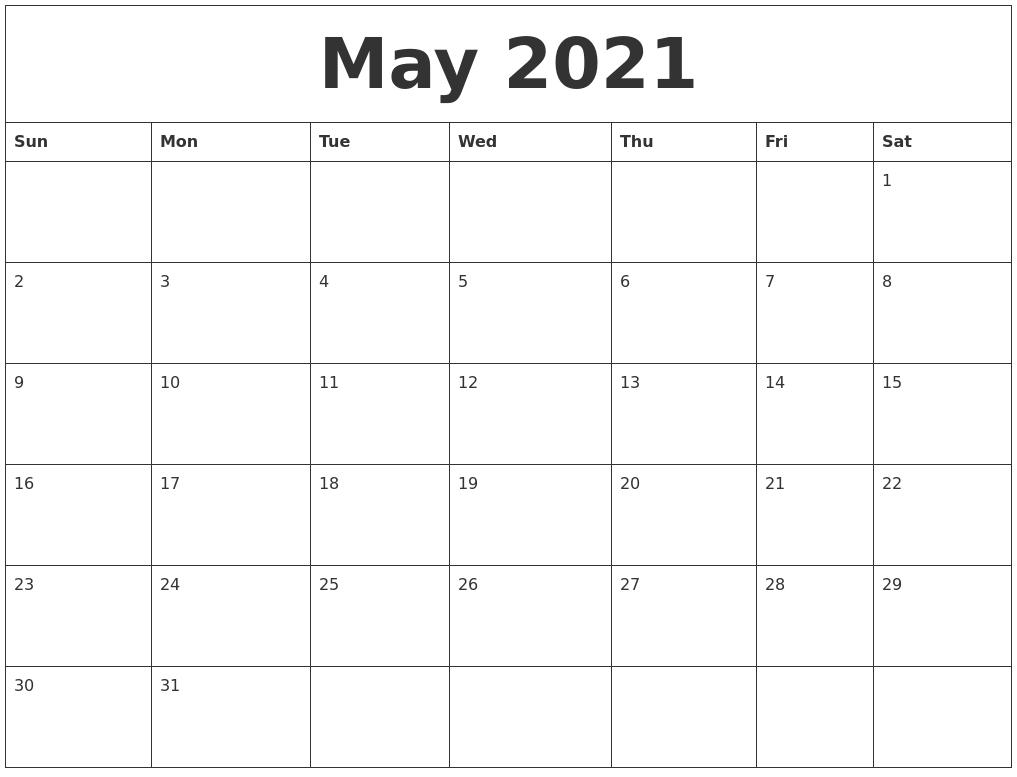 November 2021 Free Printable Monthly Calendar