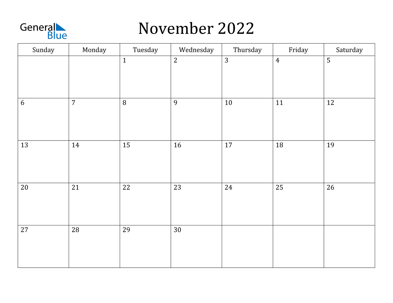 November 2022 Calendar Pdf Word Excel