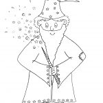Old Wizard Woo Colouring Picture An Enchanted Place