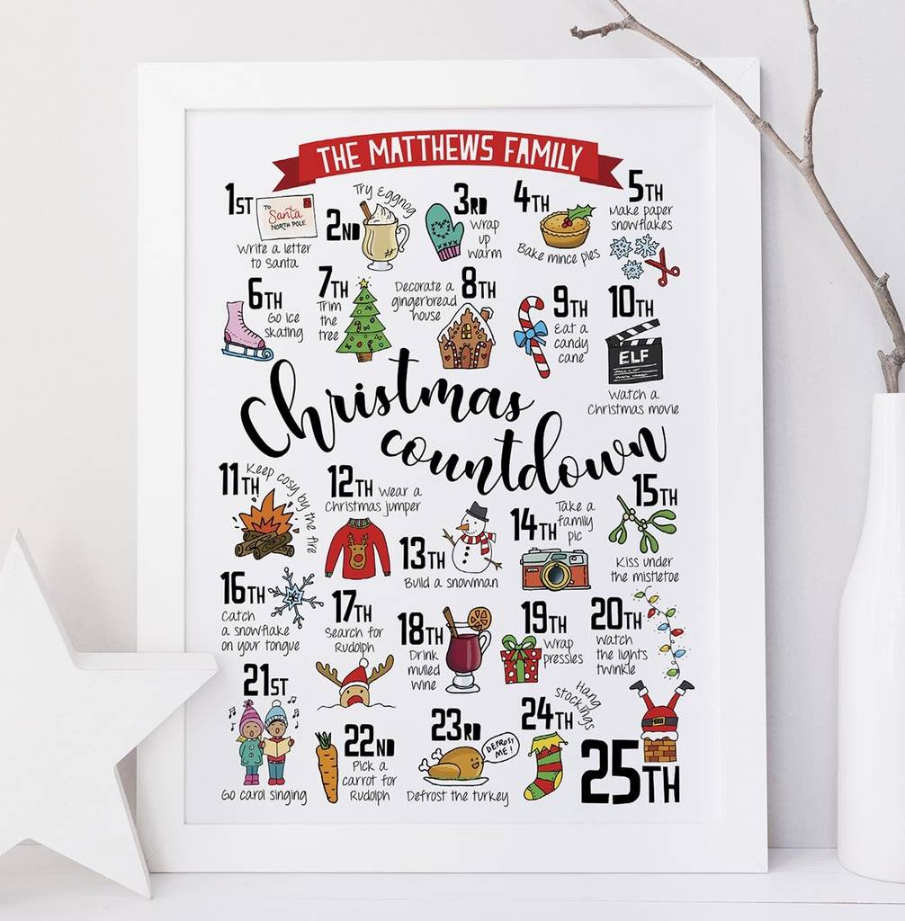 Personalised Christmas Advent Calendar Printeskimo