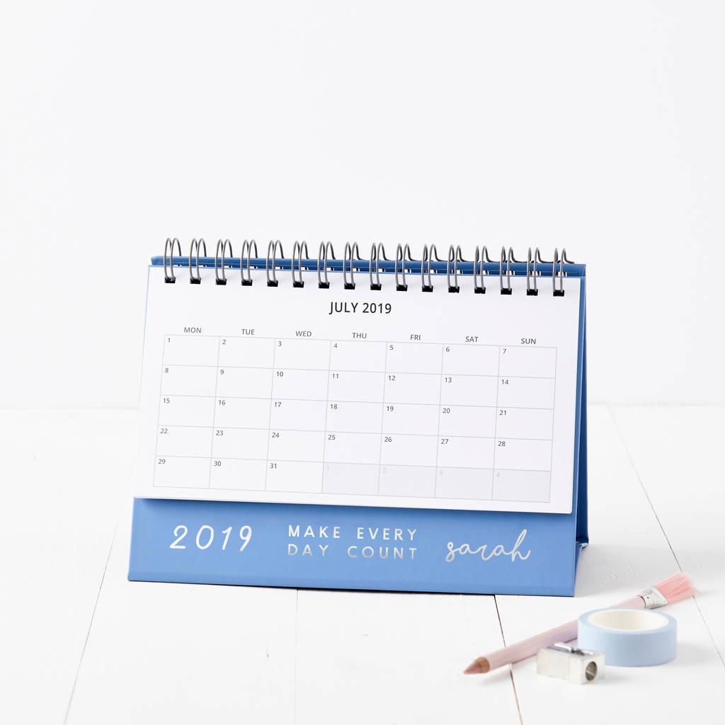 Personalised Make It Count 2019 Desk Calendarmartha