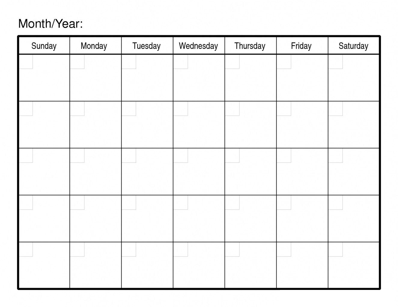 Pick Blank 30 Day Calendar Template E28b86 The Best Printable