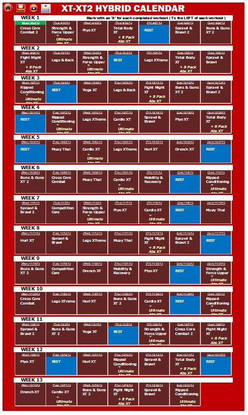 Pin De Luis Dominguez En Tapout Calendario De Ejercicios