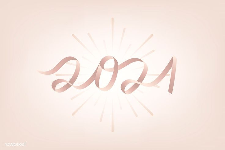 Pink New Year 2021 Vector Free Imagerawpixel