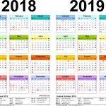 Print Academic Calendar 2020 19 Month Calendar Printable