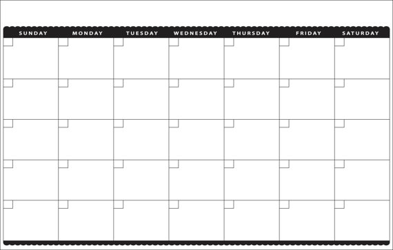 Printable 11x17 Monthly Calendar Calendar Template 2020