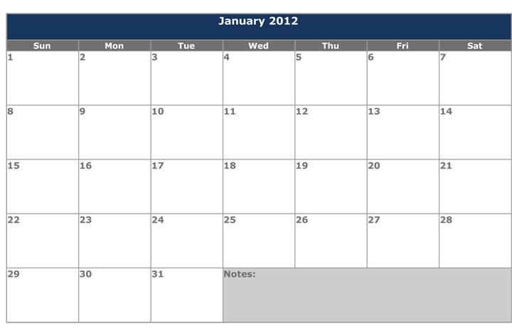 Printable 2012 Calendar Template 8ws Templates Forms