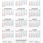 Printable 2020 2021 School Calendar Printable Calendar