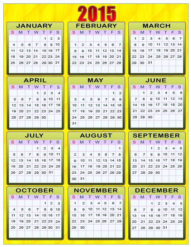 Printable 3 Year Calendar Calendar Template 2020