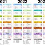 Printable 3 Year Il Caemdar 2020 2022 Example Calendar