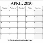 Printable 30 Day Calendar 2020 Calendar Template 2020