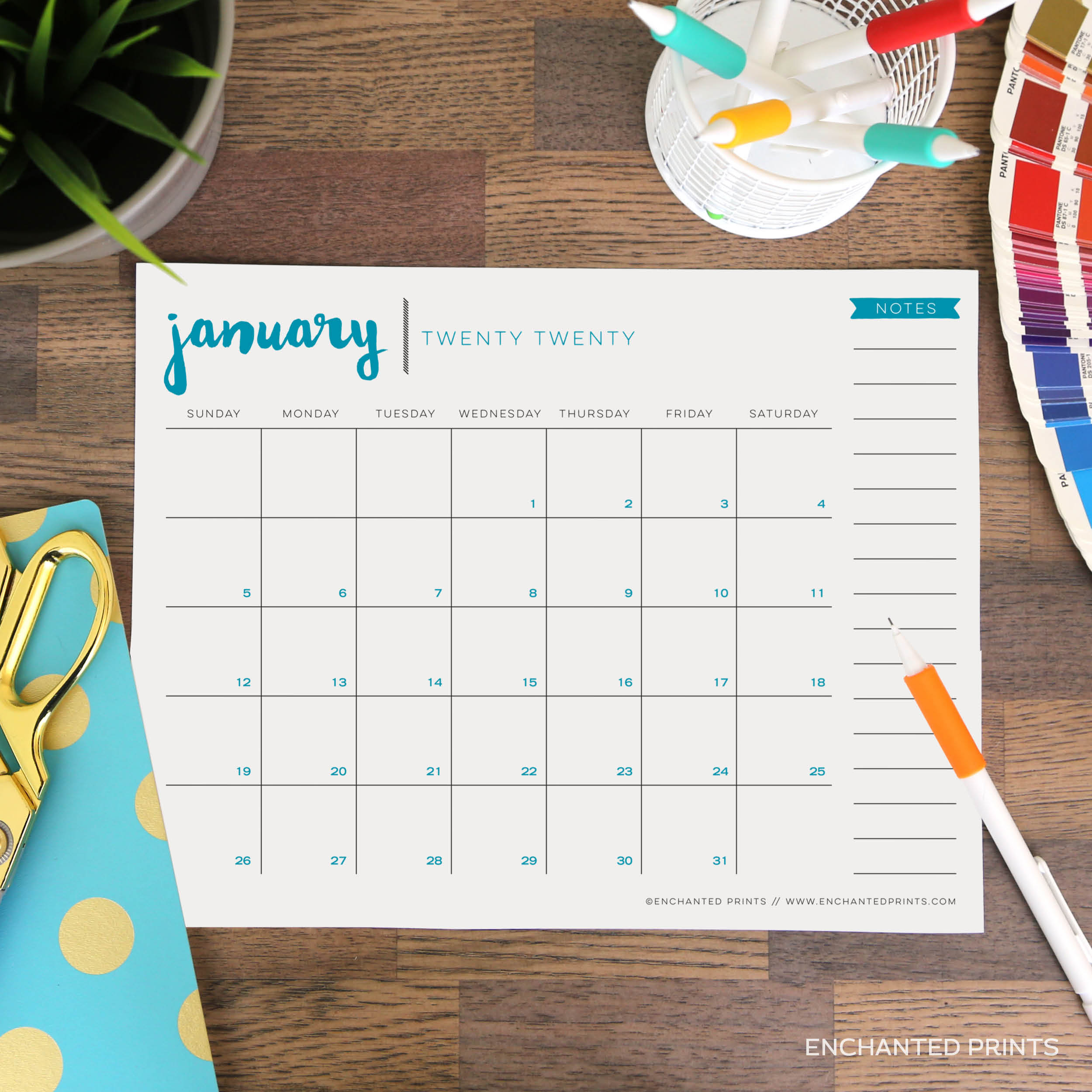 Printable 8 5 X 11 2020 Calendar Calendar Template