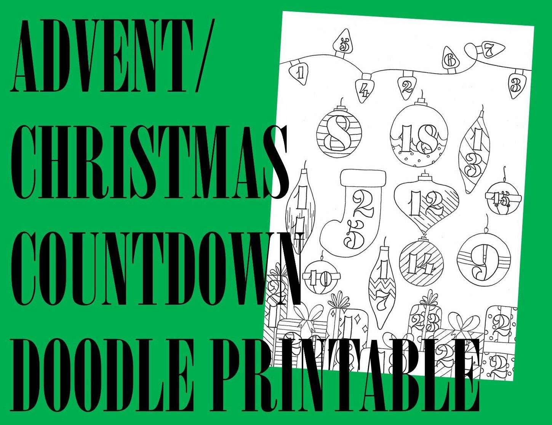Printable Bullet Journal Christmas Countdown Advent