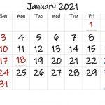 Printable Calendar January 2021 In 2020 Printable