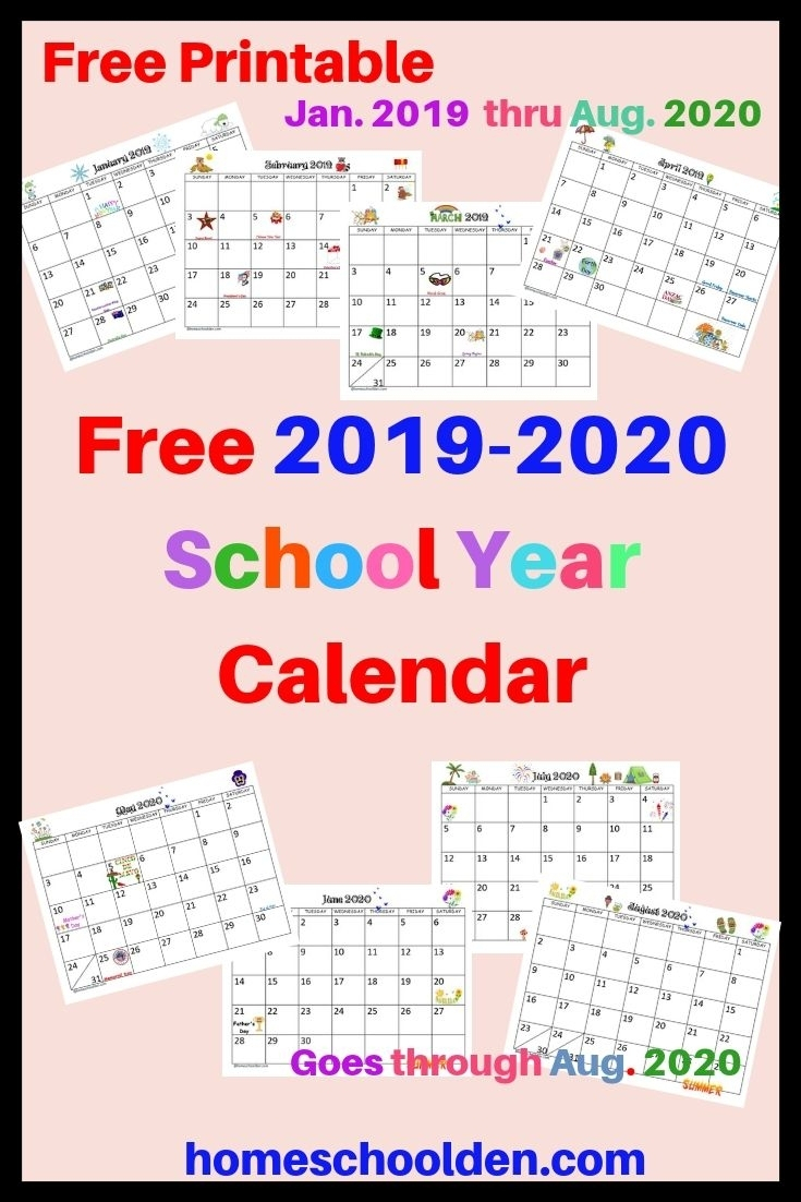 Printable Calendar Monthly 2019 2020 Free 11x17 Large 4