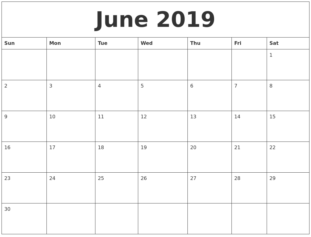 Printable Calendar Monthly 2019 2020 Free 11x17 Large