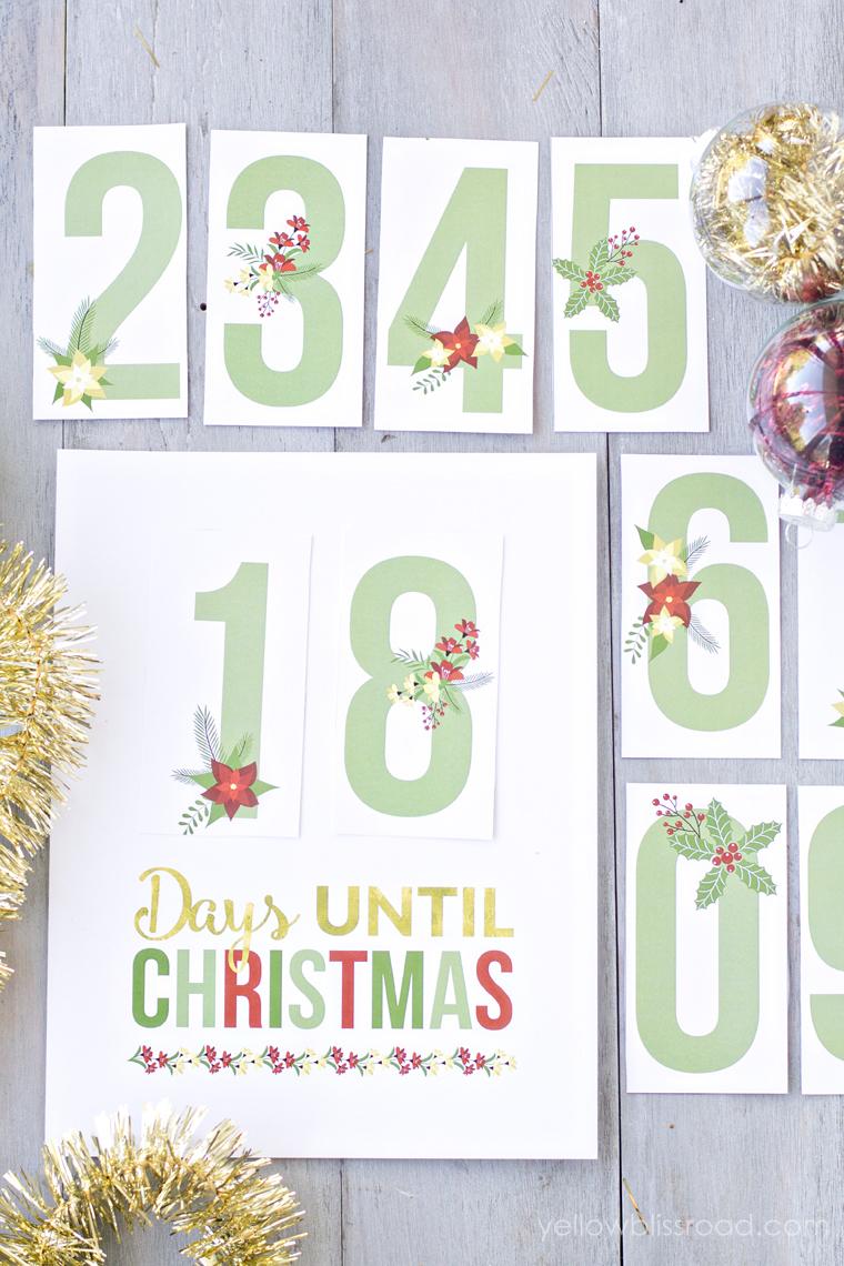 Printable Christmas Countdown 1