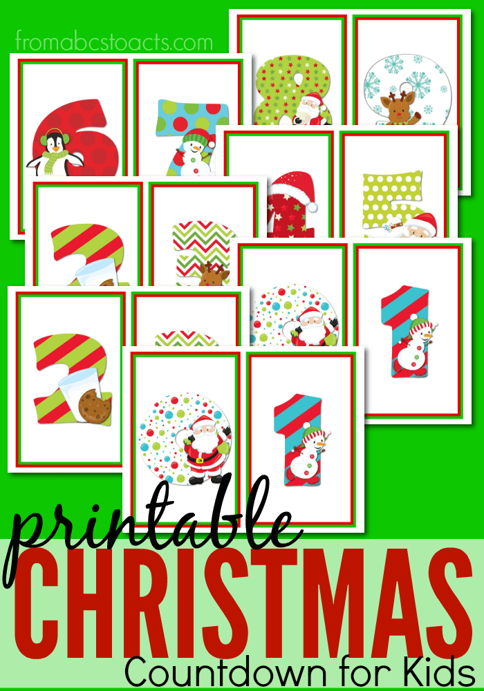 Printable Christmas Countdown For Kids From Abcs To Acts 1