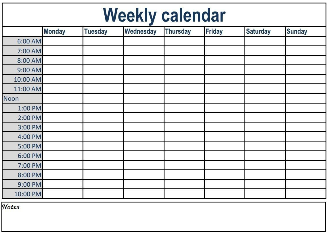 Printable Day Calendar With Times Weekly In 2020 Weekly