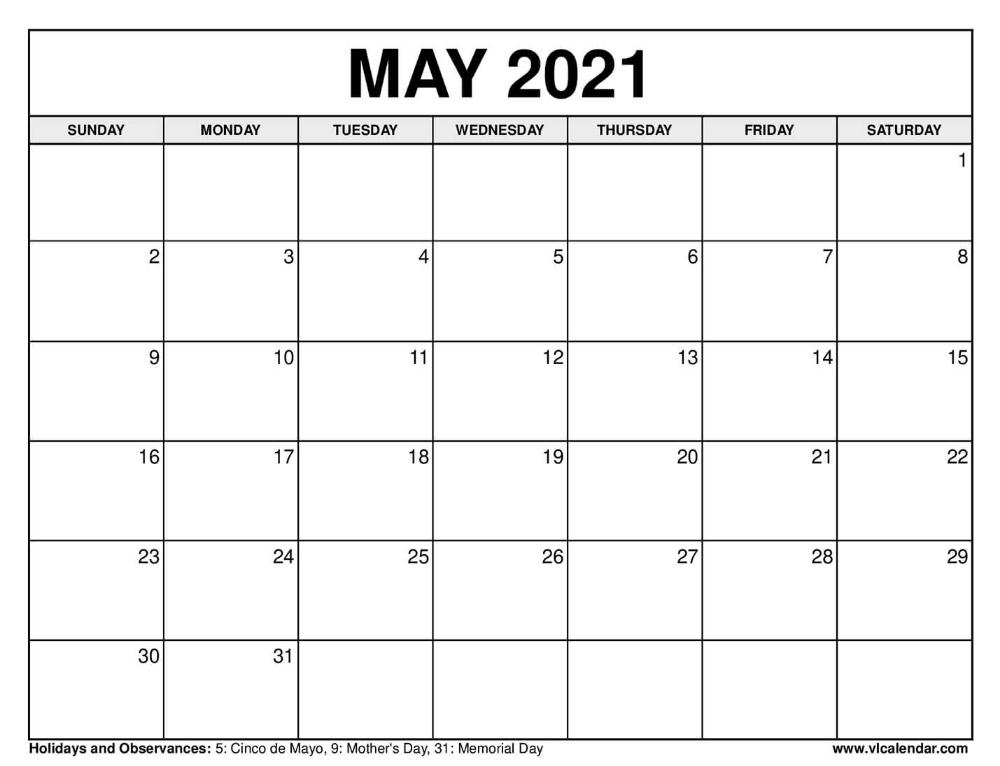 Printable May 2020 Calendars In 2020 2021 Calendar 1